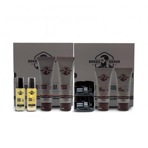 kit duo completo para barba citrus woods coffee blend barba brava