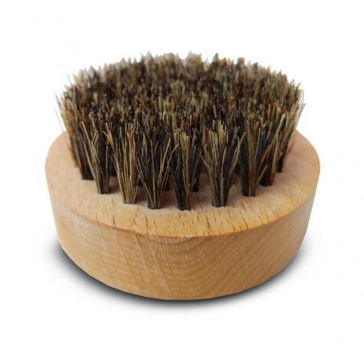 escova barba brava para barba em madeira e cerdas naturais
